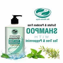 12 fl. Oz Tea Tree & Peppermint Shampoo - Sulfate free, Para