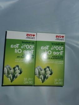 2 Pack CVS 100% Tea Tree Oil, 1 oz