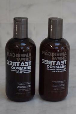 2 PACK. 8.45 oz. American Crew Tea Tree Shampoo Moisturizing