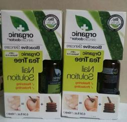 2 PACK ORGANIC SKINCARE DOCTOR TEA TREE NAIL SOLUTION 0.34 O