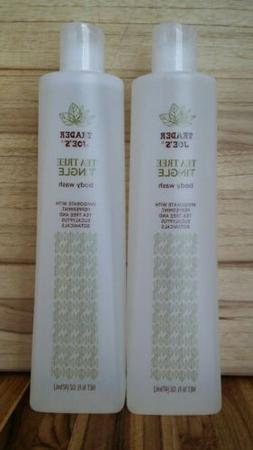 2-Pack Trader Joes Tea Tree Tingle Body Wash Peppermint & Eu