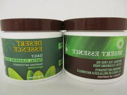 2 DESERT ESSENCE / TEA TREE OIL FACIAL CLEANSING PADS / 50 P