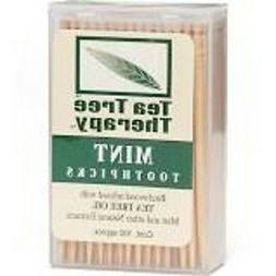 3 PACK, Tea Tree Therapy, Mint Toothpicks, 100 Ct