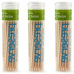 3 Pack Of 35 Preserve Mint Tea Tree Flavored Toothpicks Bund