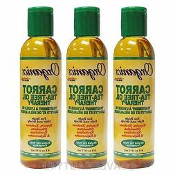 3Pc Africa's Best Organics Carrot Tea-Tree Oil Therapy for B