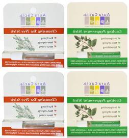 Aura Cacia 4 Aromatherapy Sticks Cleansing Tea Tree/Cooling