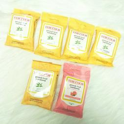 6 New BURT'S BEES Facial Cleansing Towelettes Tea Tree Extra