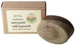 ATTIS Handmade Shiny Hair Herbal Blend Shampoo Bar   with Gi