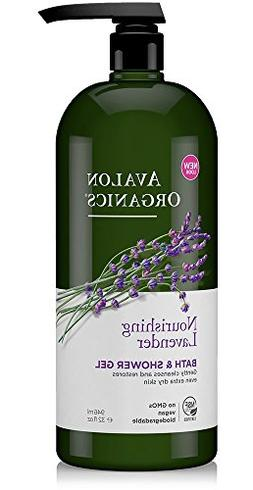 Avalon Organics Nourishing Lavender Bath & Shower Gel, 32 oz