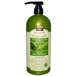 Avalon Organics, Hand & Body Lotion, Aloe Unscented, 32 oz