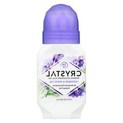 Crystal Roll On Deodorant Lavender and White Tea - 2.25 fl o