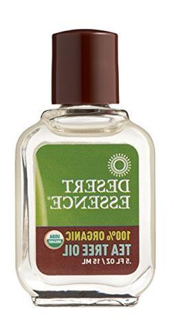 Desert Essence Organic Tea Tree Oil, 0.5 Ounce