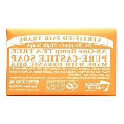 Dr Bronners Magic Soap, TEA TREE Pure Castile Soap Bar, 5 oz