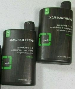 Every Man Jack Shampoo 2 in 1, Thickening 13.5 Oz
