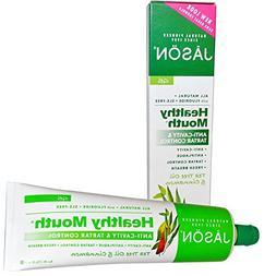 Jason Natural, Healthy Mouth, Anti-Cavity & Tartar Control G