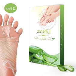 Liberex Exfoliating Foot Peeling Mask - 2 Pairs Aloe Scented