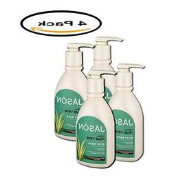 PACK OF 4 - Jason Body Wash Soothing Aloe Vera, 30.0 FL OZ
