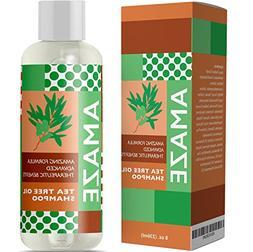 Pure Tea Tree Oil Shampoo for Dandruff Herbal Natural Hair C
