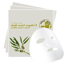 Acne Free Collagen Facial Mask, Antibacterial Pimples & Rash