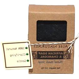 Activated Charcoal African Black Soap With Tea Tree & Lemon