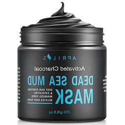 Dead Sea Mud Mask with Activated Charcoal, Deep Cleansing Cl