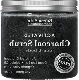 Activated Charcoal Scrub 10 oz.- Pore Minimizer & Reduces Wr