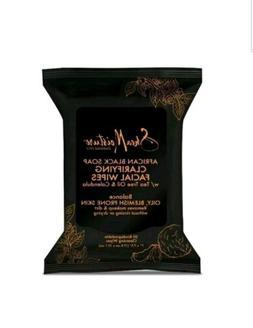 Shea Moisture African Black Soap Clarifying Facial Wipes Tea