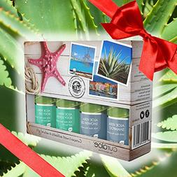 Aloe Vera Gift Set by Curaloe| Organic Body Gel, Bath/Shower