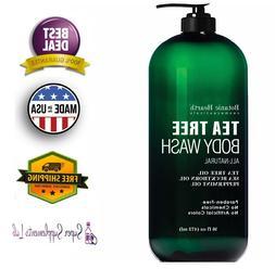 ANTIFUNGAL TEA TREE OIL BODY WASH 16 Oz Help Acne Eczema Foo