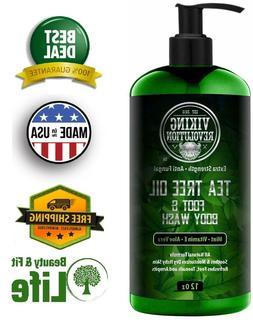 ANTIFUNGAL TEA TREE OIL BODY WASH SOAP for Men 12 oz Helps A