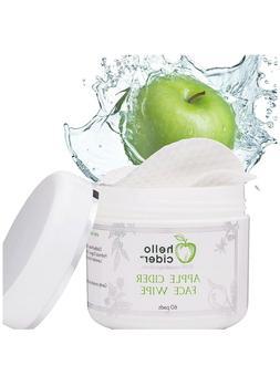 Apple Cider Vinegar Face Toner Pads Witch Hazel,Tea Tree,Ros