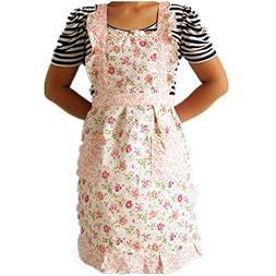 Apron Dress,LtrottedJ Women Home Kitchen Cooking Bib Flower