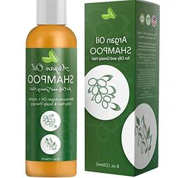 Argan Oil Shampoo for Oily Hair + Scalp - Sulfate Free Clari