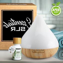 SLR 300ml Aromatherapy Essential Oil White Diffuser BPA Free