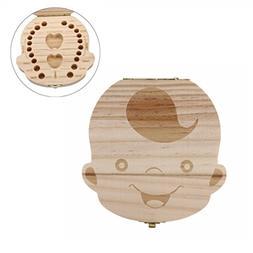 Gbell Baby Teeth Box, Wood Organizer StorageTeeth Save Box f