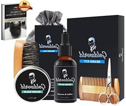 GoldWorld Beard Growth Kit for Dad/Men Gift Sets w/Unscented