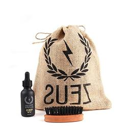 ZEUS Beard Oil Natural Conditioner Softener Kit With 100% Bo