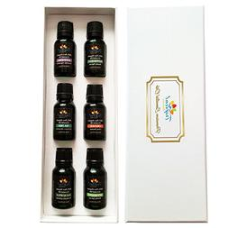 Big 6 Pack Organic Aromatherapy Essential Oil Kit with All-T