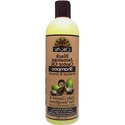 Okay Black Jamaican Castor Oil, Moisture Growth Shampoo, 12