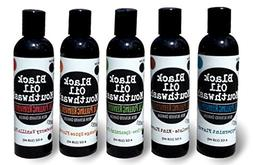 Black Oil Mouthwash 5-Flavor Variety Pack, Peppermint, Choco