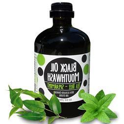 Black Oil Mouthwash, Sweet Tea Tree~Spearmint, Coconut + Ses