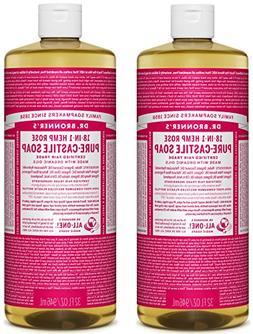 Dr. Bronner's Pure-Castile Liquid Soap Value Pack – Rose