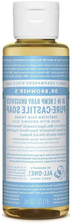 Dr. Bronners Soaps Organic Pure Castile Liquid Soap Baby Mil