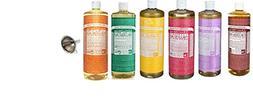 Dr. Bronner's Pure Castile Soap, 6 Pack, 8 oz