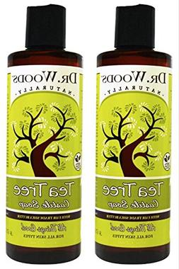 Dr. Wood Castile Soap Liquid Tea Tree with Shea Butter  With