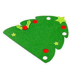 Christmas Tree Hat Glove Shape Cup Cushion Holder Drink Plac