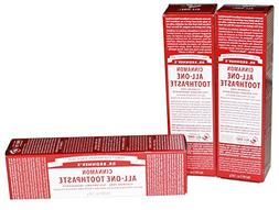 Dr Bronner's Cinnamon All-One Toothpaste Pack of 3