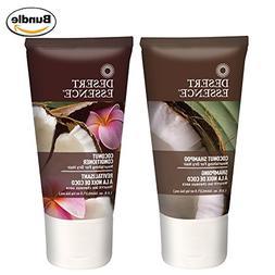 Desert Essence Coconut Shampoo and Conditioner Travel Size B