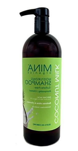 Coconut Milk Moisturizing Shampoo 33 ounce Liter  by Mina Or
