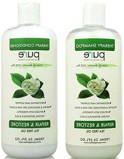 PURE Tea Tree Oil Shampoo & Conditioner Set, 26.5 oz. each -